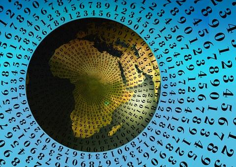 Svět složený z čísel - ilustrační obrázek